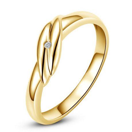 Fede Uomo - Oro giallo 2.44gr - Diamante 0.006ct