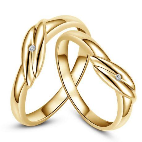 Fedi matrimonio, Fedine -  Oro giallo 4.18gr, Diamanti 0.010ct