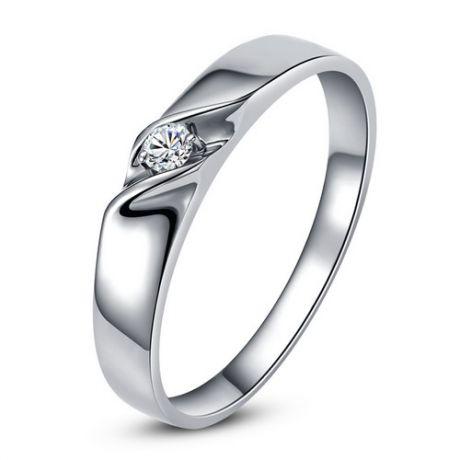 Fede Donna - Oro bianco 2.2gr - Diamante 0.024ct