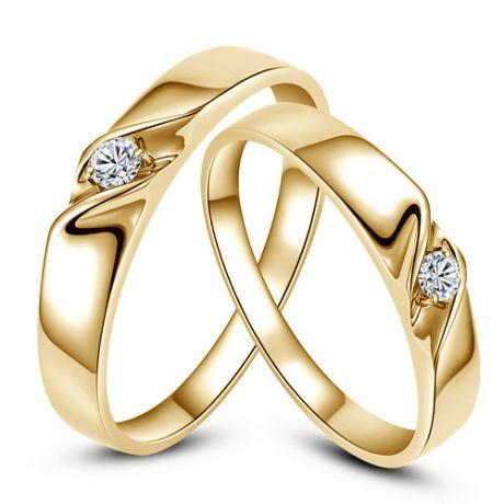 Fedi matrimonio, Fedine -  Oro giallo 6.7gr, Diamanti 0.071ct