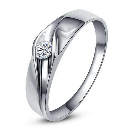 Fede Donna - Oro bianco 2.50gr - Diamante 0.050ct