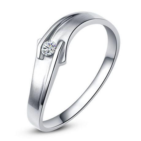 Fede Donna - Oro bianco 2.3gr - Diamante 0.03ct