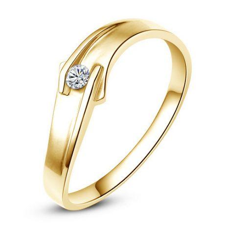 Fede Uomo - Oro giallo 3.5gr - Diamante 0.066ct