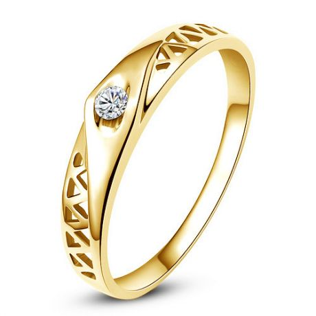 Fede Donna - Oro giallo 1.95gr - Diamante 0.045ct
