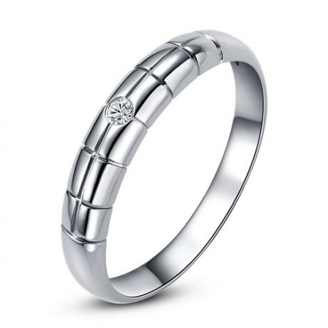 Fede Donna - Oro bianco 1.41gr - Diamante 0.018ct