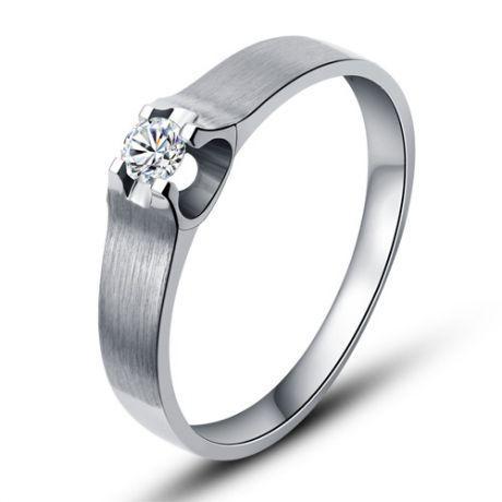 Fede Donna - bianco 2.56gr - Diamante 0.061ct