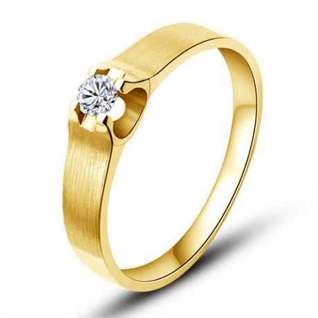Fede Donna - Oro giallo 2.56gr - Diamante 0.061ct