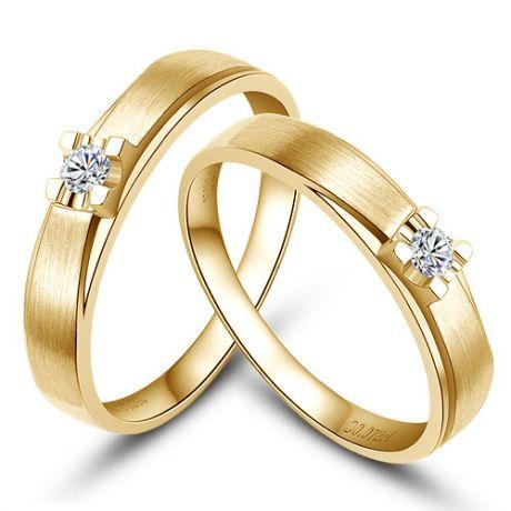Fedi matrimonio, Fedine -  Oro giallo 5.69gr, Diamanti 0.107ct