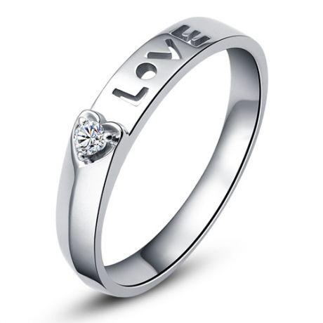 Fede Donna - Oro bianco 2.37gr - Diamante 0.040ct