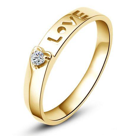 Fede Donna - Oro giallo 2.37gr - Diamante 0.040ct