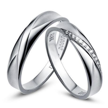 Fedi matrimonio, Fedine -  Oro bianco 6.72gr, Diamanti 0.016ct