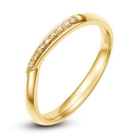 Fede Donna - Oro giallo 2.12gr - Diamanti 0.048ct