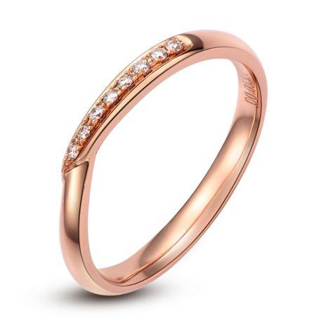 Fede Donna - Oro rosa 2.12gr - Diamanti 0.048ct