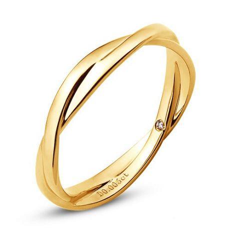 Fede Donna - Oro giallo 2.7gr - Diamante 0.005ct