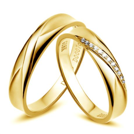 Fedi nuziali Emilia & Barrett in Oro giallo e diamanti
