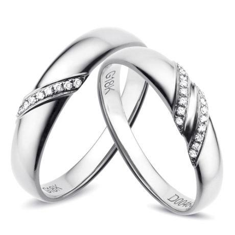 Fedine diamantate - Anelli cerimonia - Fedi nuziali - Oro bianco