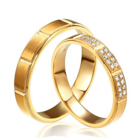 Fedi matrimonio, Fedine -  Oro giallo 10.73gr, Diamanti 0.190ct