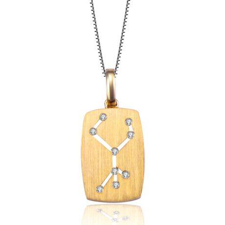 Ciondolo astrologico - Costellazione della vergine - Oro giallo