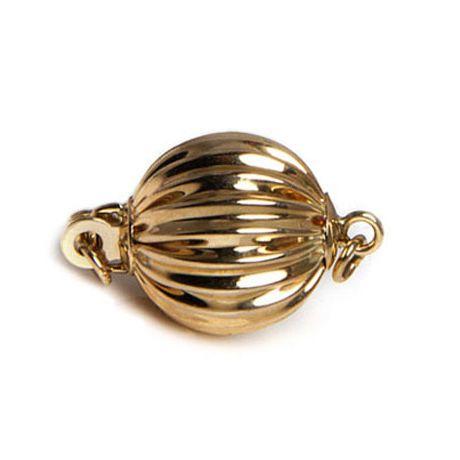 Chiusura Boccino. Palla striata 9mm - Oro giallo 14 carati