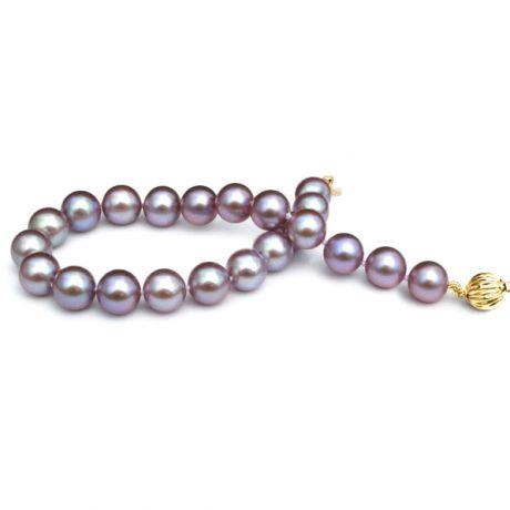 Braccialetto perle acqua dolce lavanda - 7.5/8mm, AAA