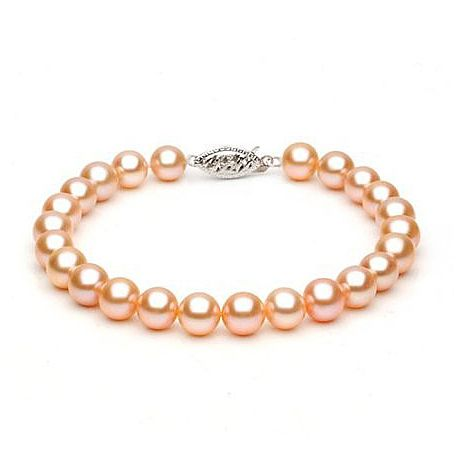 Braccialetto Donna - Perle d'acqua dolce rosa - 7/7.5mm, AAA