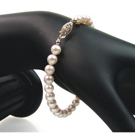 Braccialetto perle Akoya - Perle di mare - 5.5/6mm - AAA