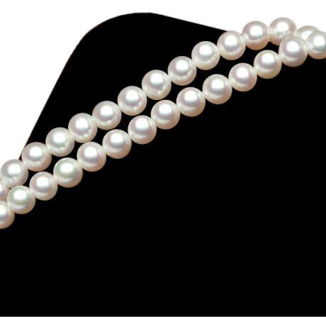 Braccialetto due fili in perle Akoya - Perle 4.5/5mm - Giappone