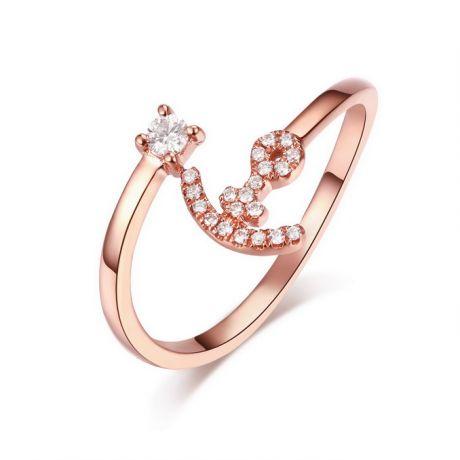 Anello Ancora. Oro rosa 18 carati e Diamanti