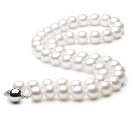 Collana perle acqua dolce bianche - 8/8.5mm, AAA