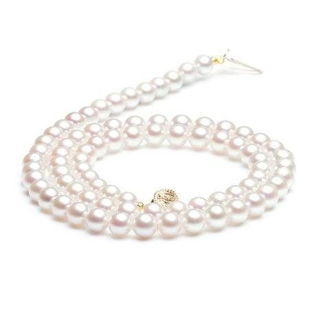 Collana - Perle di coltura - Acqua dolce bianche - 5/5.5mm, AAA