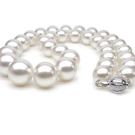 Collana perle d'acqua dolce bianche - 11.5/12.5mm, AAA