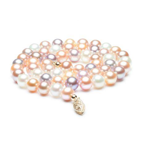 Collana in perle acqua dolce multicolore - 6.5/7mm, AAA
