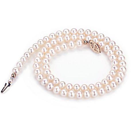 Collana perle acqua dolce bianche - 5/5.5mm, AA+