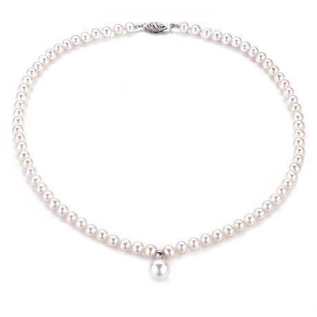 Collana ciondolo perle acqua dolce - 5/9mm, AA+/AAA
