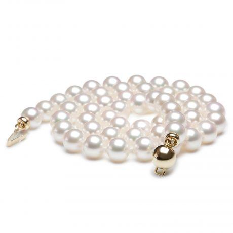 Collana di perle Akoya Giappone bianche - 6.5/7mm, GEMMA