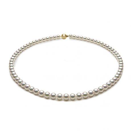 Collana di perle Akoya giapponesi bianche - 5.5/6mm, AAA