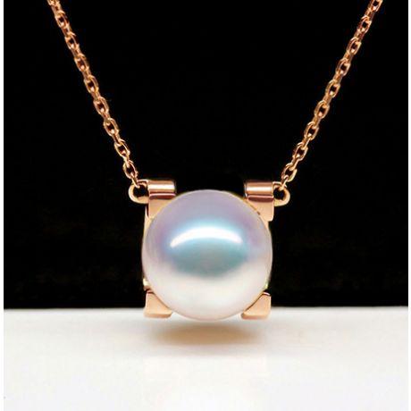 Ciondolo Morita, perla Akoya giapponese e Oro Rosa 18ct