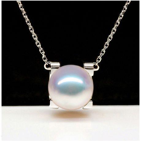 Ciondolo Morita, perla Akoya giapponese e Oro Bianco 18ct