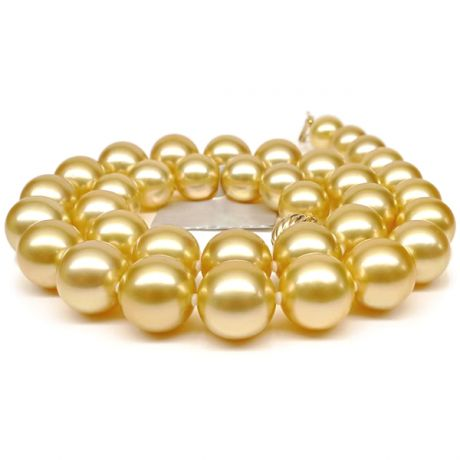 Collana perle d'Australia dorate - 11/13mm, AAB