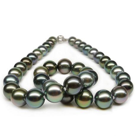 Collana in perle di Tahiti multi colore - Rare perle Polinesiane