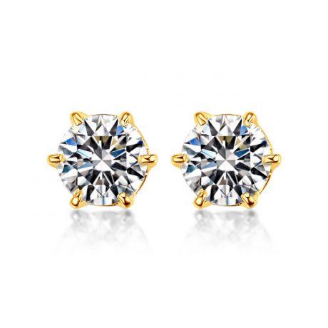 Orecchini Diamanti Punto Luce. Oro giallo 18ct. Vassili