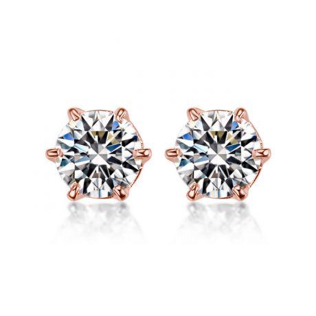 Orecchini Diamanti Punto Luce. Oro rosa 18ct. Vassili