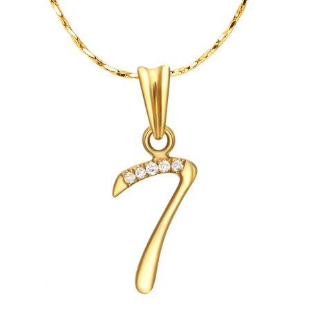 Ciondolo Numero 7 - Sette in Oro Giallo 18ct