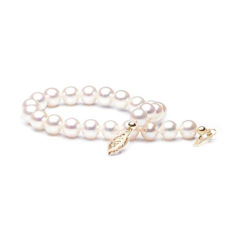 Braccialetto perle d'acqua dolce bianche - 6.5/7mm, AAA