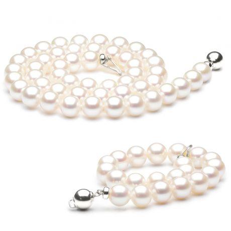 Parure perle di coltura matrimonio - Chiusura oro bianco