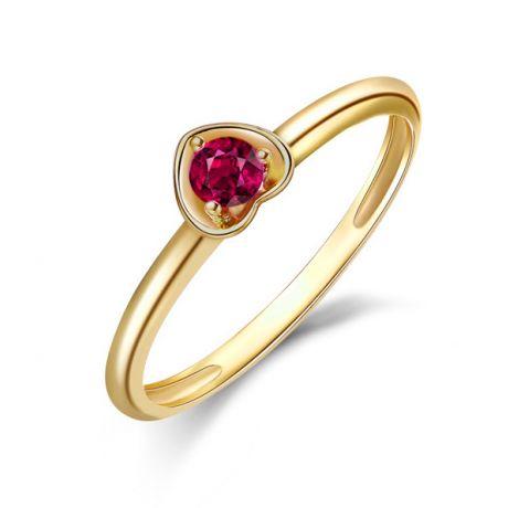 Anello rubino in oro giallo - Collezione Cuore