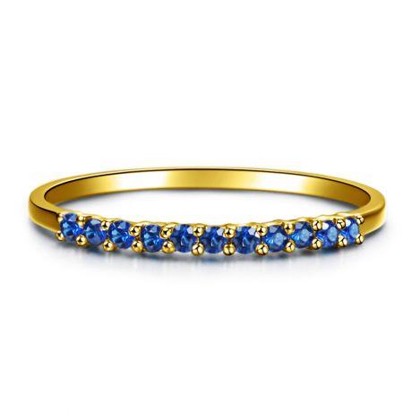 Anello oro giallo 18 carati - Zaffiri