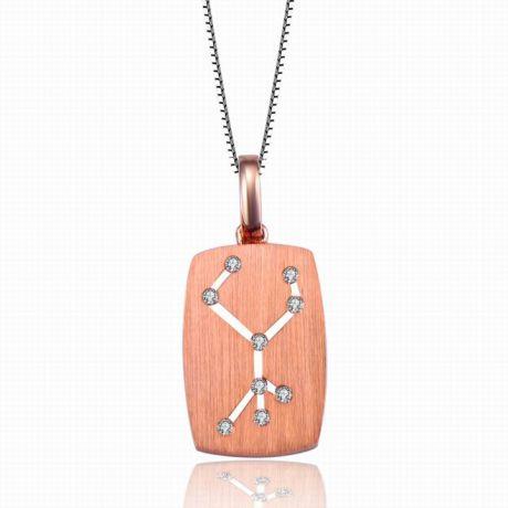 Ciondolo astrologico - Costellazione della vergine - Oro rosa