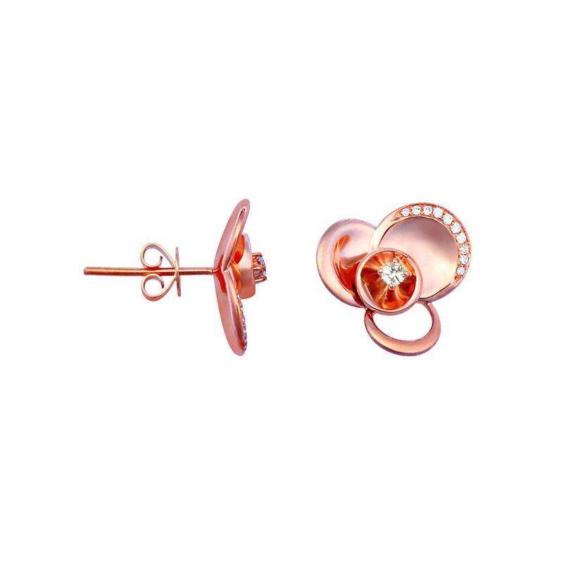 Orecchini - Oro rosa 4.95gr - Diamanti 0.140ct