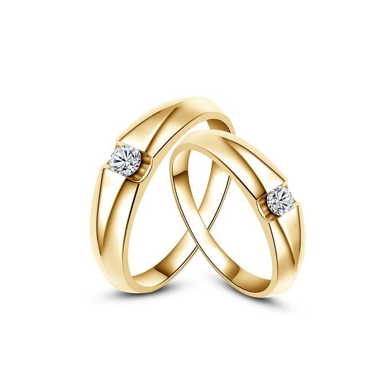 Fedi matrimonio, Fedi -  Oro giallo 8.7gr, Diamanti 0.235ct